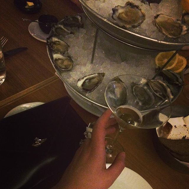 Martini, oysters, Happy Friday ️