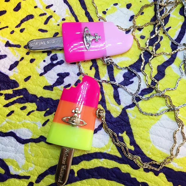 Super cute Vivienne Westwood Holly Popsicle pendants️️️