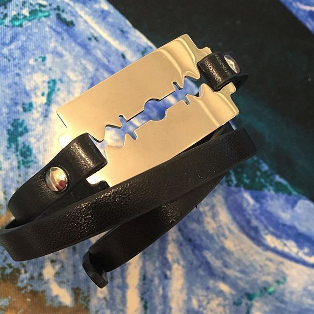 The McQ Alexander McQueen triple wrap razor blade bracelet is back at Pour Tous. Be quick these never last long️Shop our insta- Link in our Bio #10865