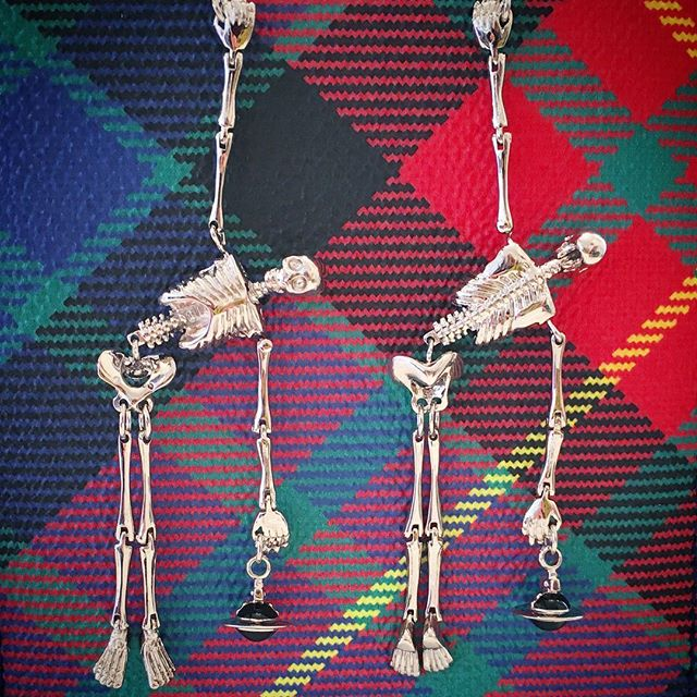 Much loved Vivienne Westwood Skeleton earrings, in store now at Pour Tous Shop our insta- Link in our Bio #10701