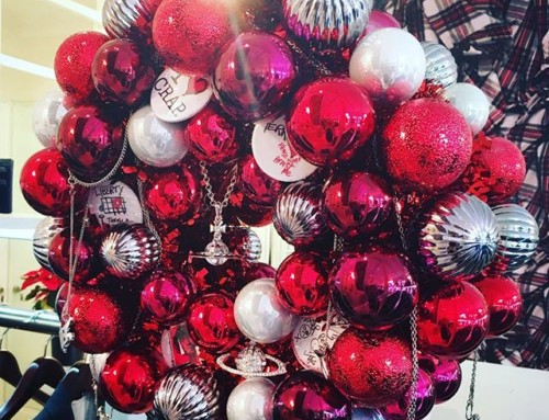 "We are decking the halls today at Pour Tous, our Christmas decorations are up plus our Christmas delivery of Vivienne Westwood Jewellery has just arrived! ''Tis the season"" 🛍🏻🍾"
