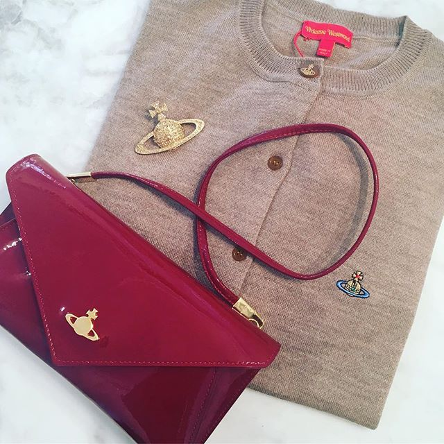 Christmas gift ideas for her, Mirror Ball Clutch $420, Bas Relief Brooch $240, Classic Cardi $390, all Vivienne Westwood at Pour Tous 🏻Shop our insta- Link in our Bio #11046