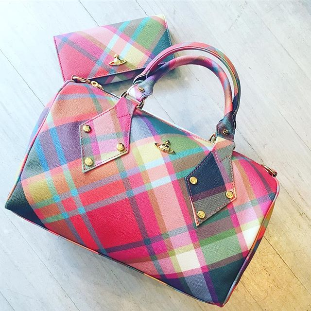 Vivienne Westwood Derby bag and wallet in Harlequin tartan....please Santa 🏻