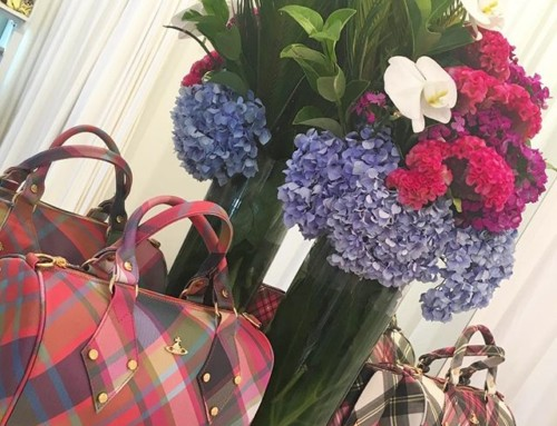 Thanks for the beautiful blooms @pollonflowers they look fabulous next to some Vivienne Westwood tartan