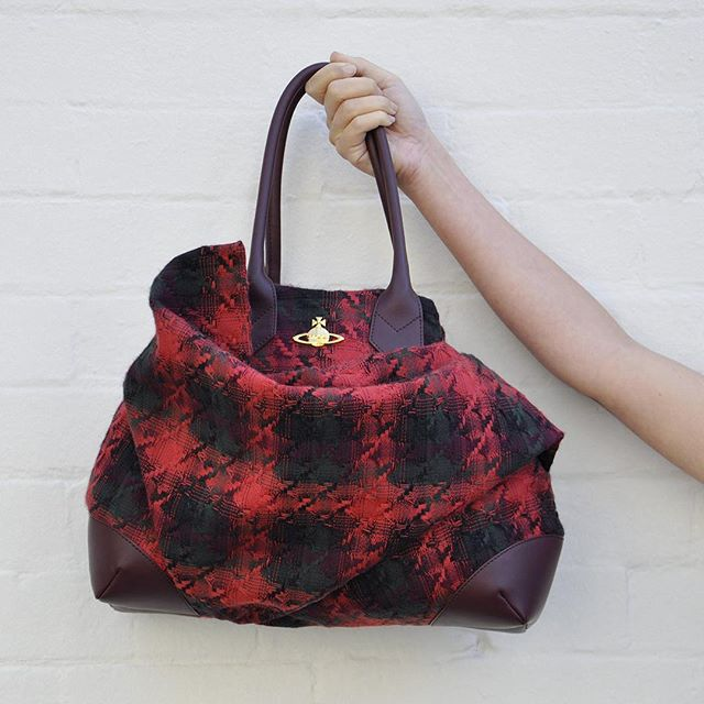 Vivienne Westwood winter tartan handbag, so beautiful, in store now