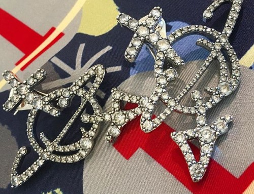 Fabulous earrings for AW17/18 at the Vivienne Westwood showroom