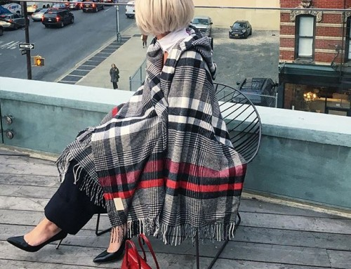 Staying cozy in my Vivienne Westwood tartan cape here in NYC Shop our insta- Link in our Bio #10792