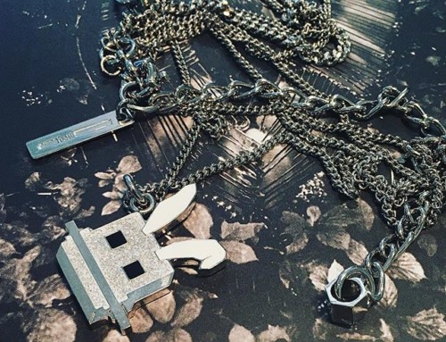 McQ Alexander McQueen Electro Bunny necklace was $210 now $105 in our clearance sale  Shop our insta- Link in our Bio #10868