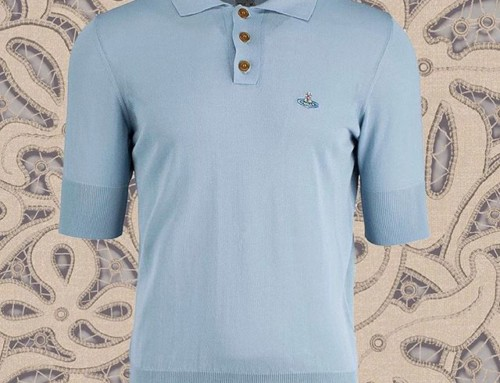 This lovely knit polo from Vivienne Westwood Man was $350 now $175 in our clearance sale Shop our insta- Link in our Bio #10899