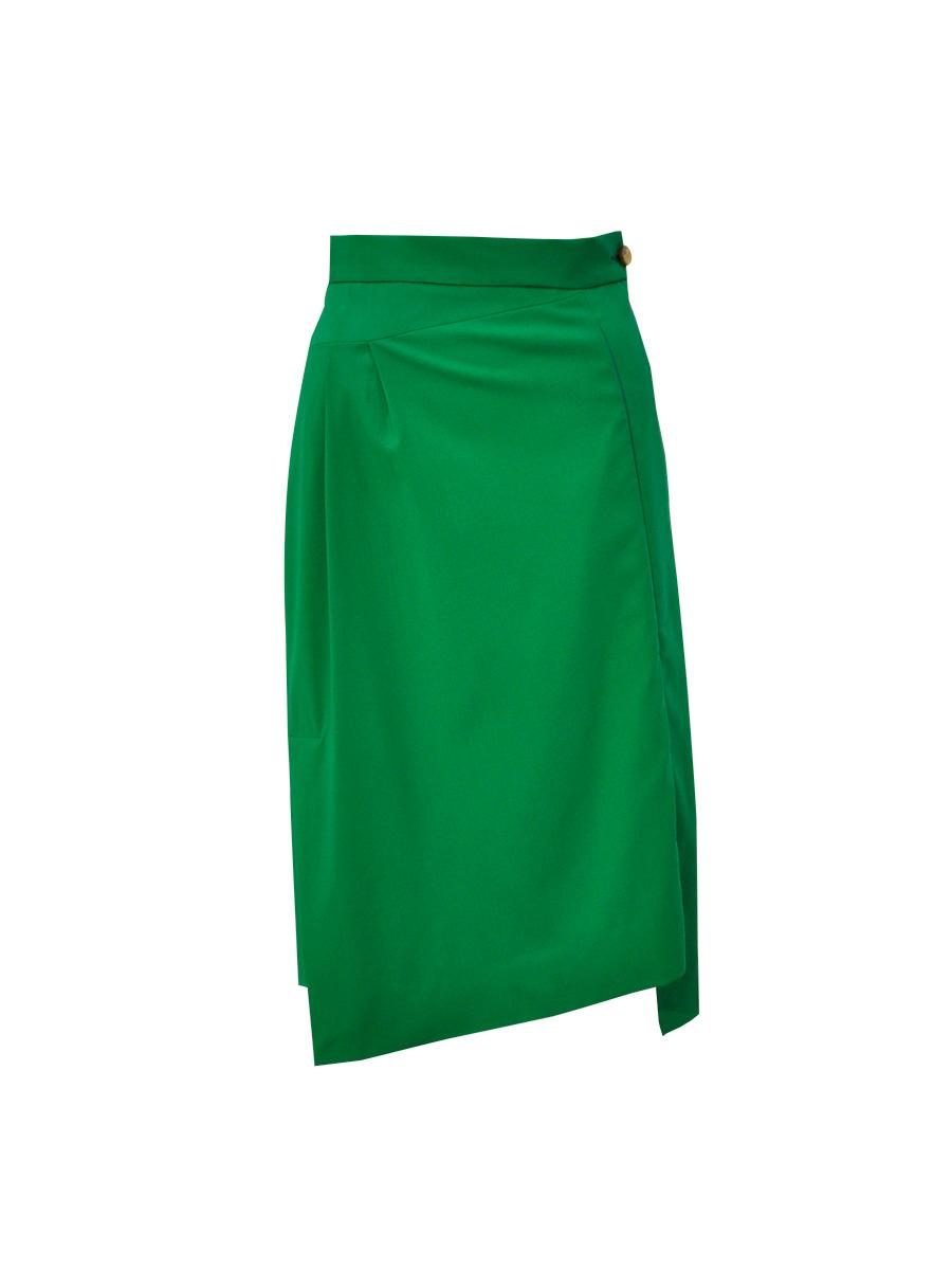 vivienne westwood new moon midi skirt emerald