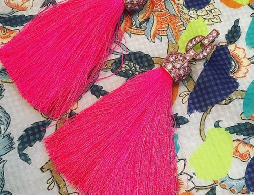 All kinds of fabulous! Vivienne Westwood Electra Tassel Earrings in hot pink Shop our insta- Link in our Bio #11369