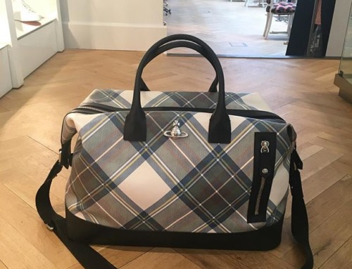 Love this travel bag from the Vivienne Westwood SS18 collection at the showroom in London
