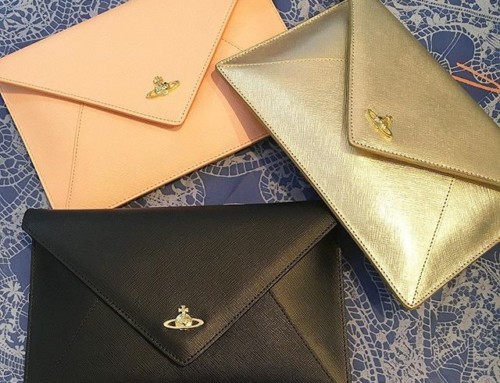Ever popular Vivienne Westwood envelope clutches in store and online now in three fab colours Shop now link in our bio #11415
