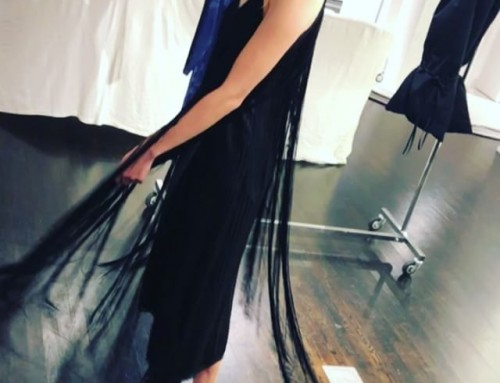 Fun fringed dress for AW18/19 at the MM6 Maison Margiela showroom 🏼