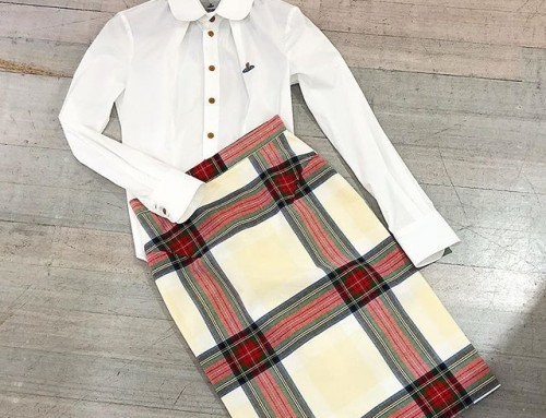 Such a beautiful classic look, Vivienne Westwood tartan pencil skirt and Tolous white shirt both in store now 🏻 shop now link in our bio #11941
