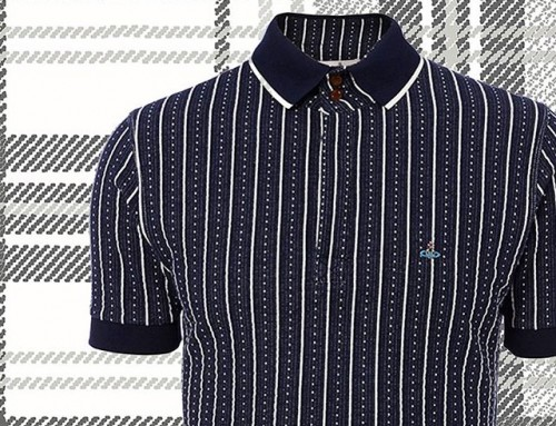 Polo perfection from Dame Viv, this beautiful navy jacquard polo shirt is in store and online now at Pour Tous  shop now link in our bio #11907
